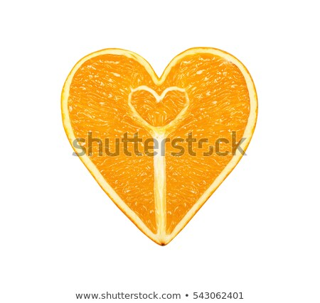 心臓の形態 オレンジ ピール クローズアップ 葉 フルーツ ストックフォト © deyangeorgiev