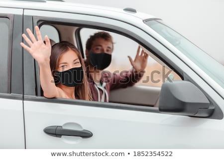 Foto stock: Olá · carro · mulher · acelerar · tráfego