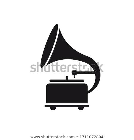 eski · yalıtılmış · döner · tabla · beyaz · eski · müzik · Çalar - stok fotoğraf © inxti