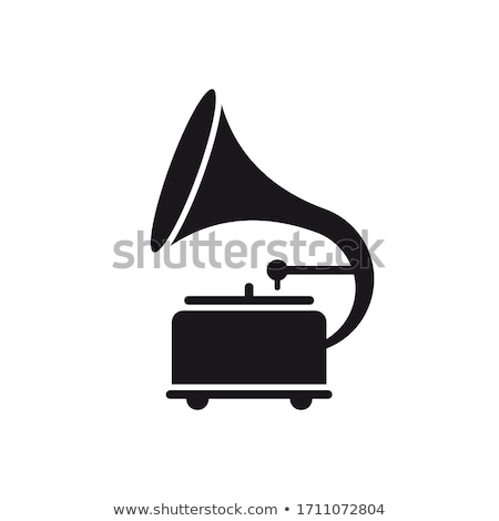 Velho gramofone agulha preto vinil música Foto stock © inxti
