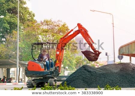 マシン · 道路 · 作業 · 地球 · 産業 · タイヤ - ストックフォト © rufous