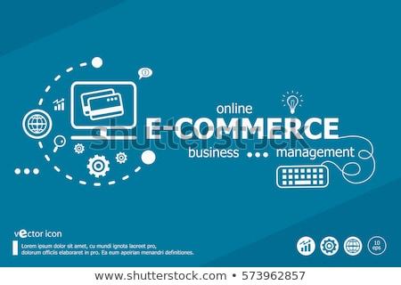 ecommerce · business · woord · Rood · kleur - stockfoto © tashatuvango
