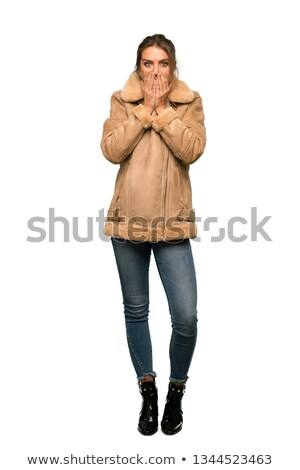 Shocked woman, girl gaping in surprise Stock photo © dacasdo