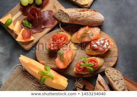 melon, prosciutto an cherry tomato Stock photo © M-studio