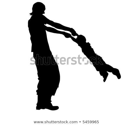 Padre ruotare figlio cielo mano legno Foto d'archivio © Paha_L