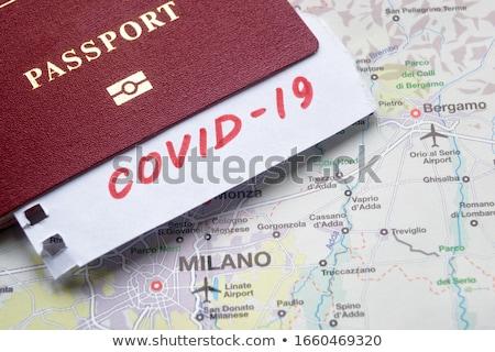 EU passports on a map Stock photo © kuligssen