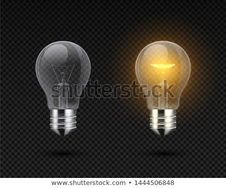 白 電球 黒白 蛍光灯 孤立した 黒 ストックフォト © shanemaritch