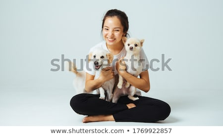 Attractive girls petting Stock photo © Lighthunter