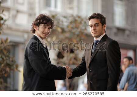 a turkish handshake Stock photo © Nelosa