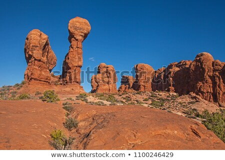 balanced rock garden of eden background arches national park moa stock photo © billperry