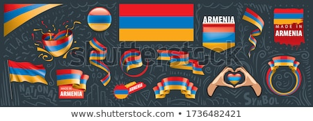 ribbon banner   armenian flag stock photo © stockwerkdk