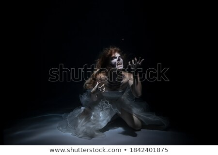 Woman in Halloween costume with a saw Stock photo © pxhidalgo
