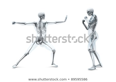 Male musculature fight - 3D render Stock photo © Elenarts