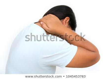 Stock foto: Mann · Schulter · Massage · gut · aussehend · junger · Mann · Magen
