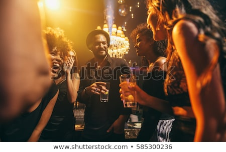 Vrouw club bar clubbing nachtleven Stockfoto © Kzenon