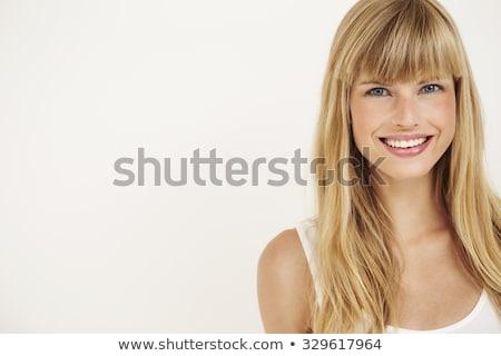 sağlıklı · genç · kadın · diş · ipi · kamera - stok fotoğraf © neonshot