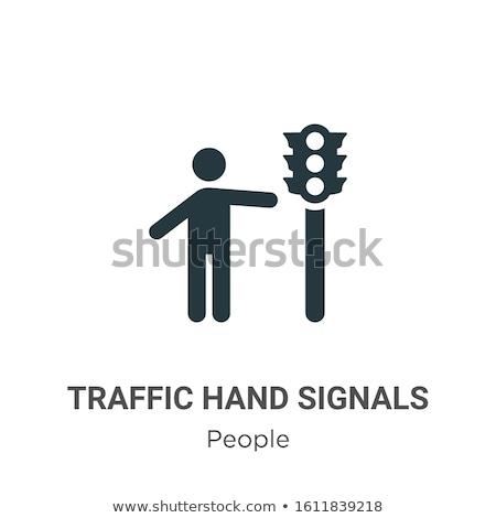 железная дорога остановки сигнала лампы небе дороги Сток-фото © mycola