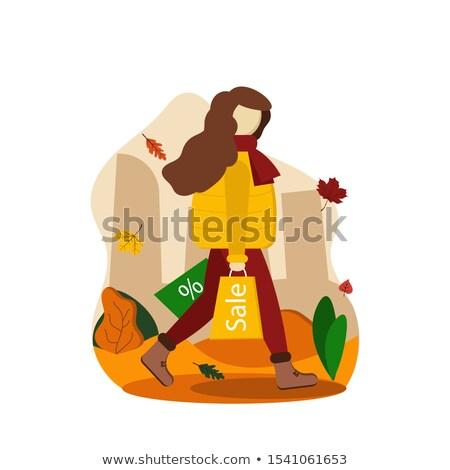 fashion woman in city vector illustration stock photo © carodi