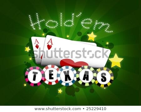 Poker risultato gioco abbigliamento sedia tavola Foto d'archivio © searagen