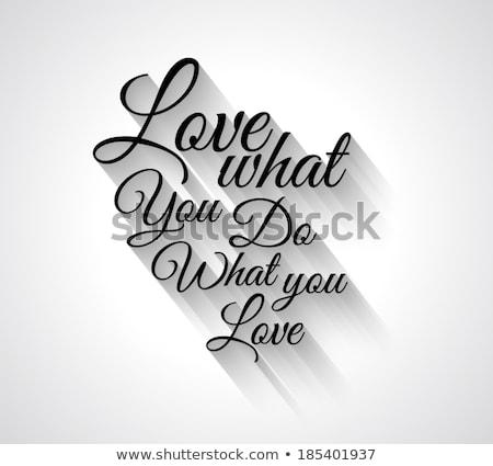 Liefde tekst retro-stijl schaduwen wat Stockfoto © DavidArts