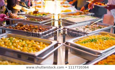 Tatlı catering plaka tatlı büfe renkli görüntü Stok fotoğraf © mikdam