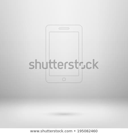 Stock photo: Pad icon in light studio room