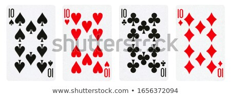 Set of card suits, hearts, clubs, spades, diamonds  Stock photo © elenapro
