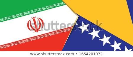 Handdruk Iran hand vergadering sport wereld Stockfoto © Zerbor