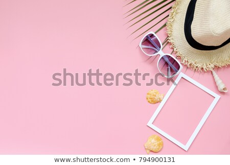 Rózsaszín jég növény gyönyörű rózsaszín virág emberi Stock fotó © hraska