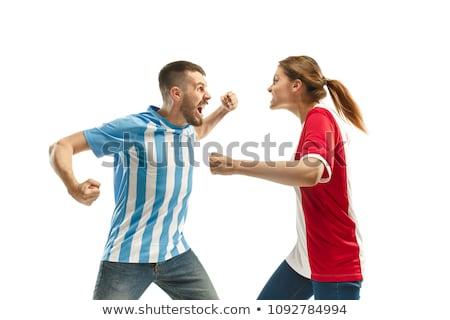 Photo stock: Triste · Argentine · football · fan · illustration · vecteur