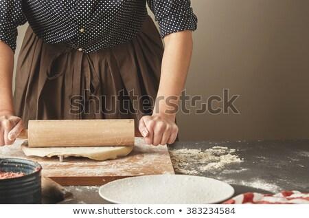 Italiaans · stempel · houten · italiaanse · vlag · 3d · render · achtergrond - stockfoto © zkruger