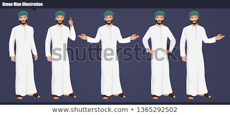 knappe · man · armen · gevouwen · illustratie · shirt - stockfoto © leonido