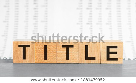 Business Education - Title of Gray Book. Stock photo © tashatuvango