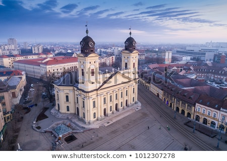 Debrecen Reformed Great Church Stock photo © joyr