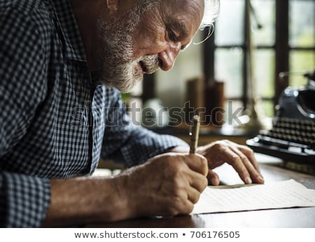 old man write Stock photo © tiero