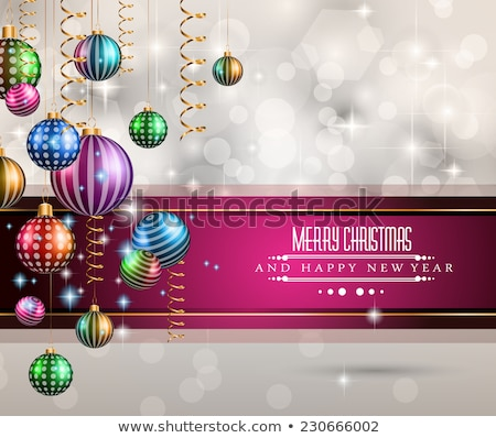 2015 yılbaşı mutlu Noel davetiye Stok fotoğraf © DavidArts