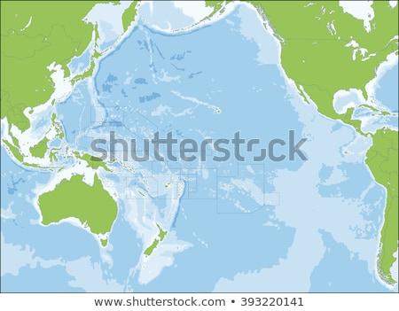 Silhueta mapa assinar branco Ilhas Salomão Foto stock © mayboro