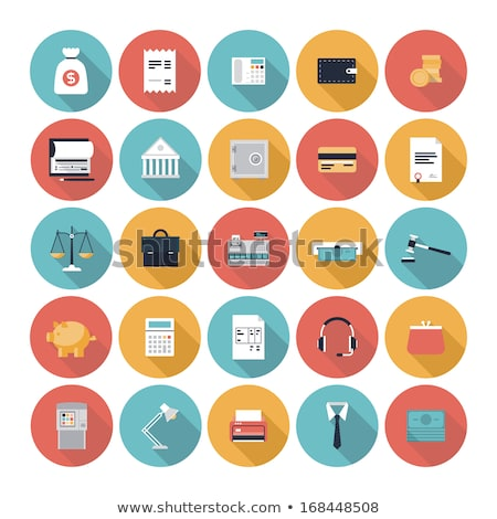 flat icons design banking and service stock photo © thanawong