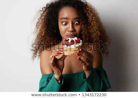 チョコレート ドーナツ 白 食品 ケーキ 朝食 ストックフォト © lucielang
