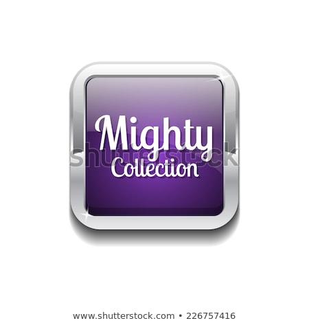 Machtig collectie paars vector icon knop Stockfoto © rizwanali3d