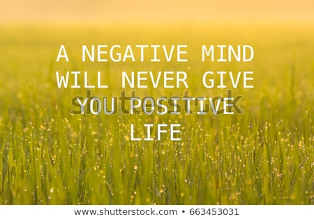 A negative mind will never give you a positive life Stock photo © ivelin