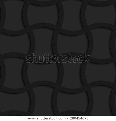 textured black plastic arched rectangles grid stock photo © zebra-finch