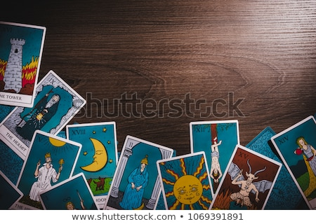 Fortune teller forecasting the future with tarot cards Stock photo © wavebreak_media