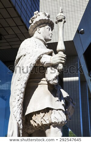 Statue of Edward VI at St. Thomas's Hospital in London Stock photo © chrisdorney