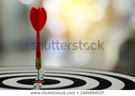Darts arrows in the target center bulls eye Stock photo © Valeriy