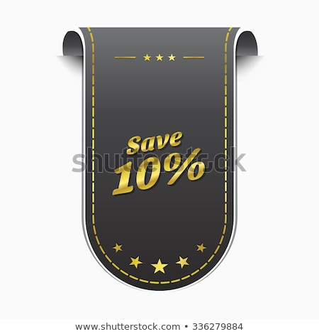 save 10 percent golden Vector Icon Design Stock photo © rizwanali3d