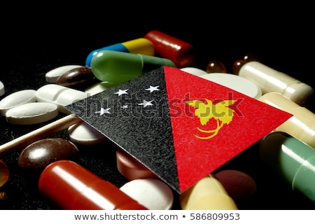 Tablet with Papua New Guinea flag Stock photo © tang90246