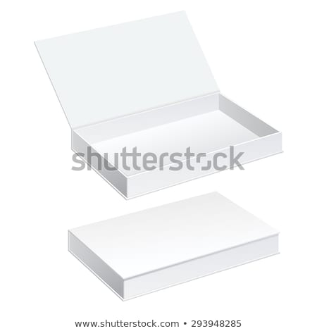 White And Black Product Package Box Illustration Isolated On Whi Stock photo © netkov1