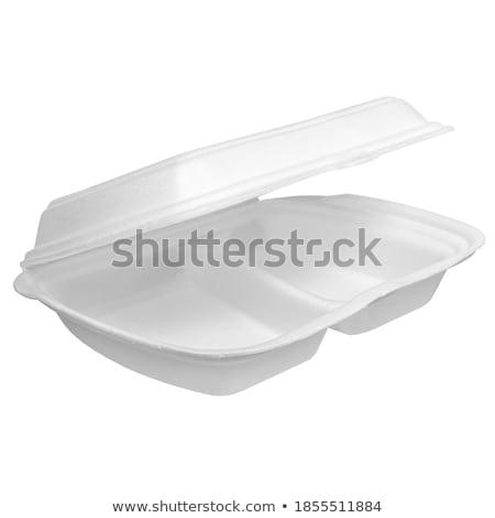 пластиковых посуда продовольствие контейнера домой кухне Сток-фото © ozaiachin