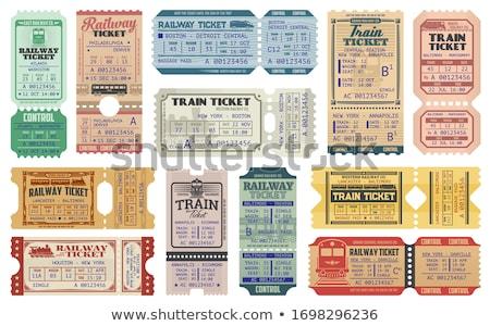 Stockfoto: Vintage · retro · trein · permanente · reizen